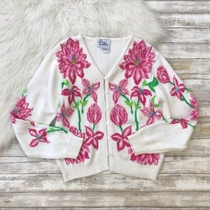 Lilly Pulitzer VINTAGE Floral Cardigan
